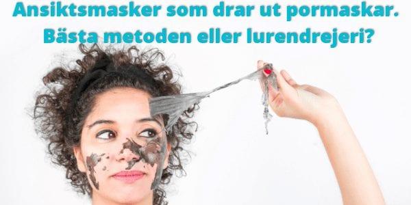 ansiktsmask mot pormaskar dra ut pormask